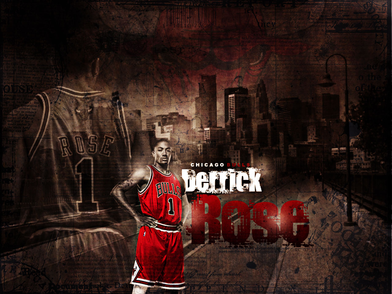 Derrick Rose Street Wallpaper Big Fan of NBA   Daily Update 1280x960