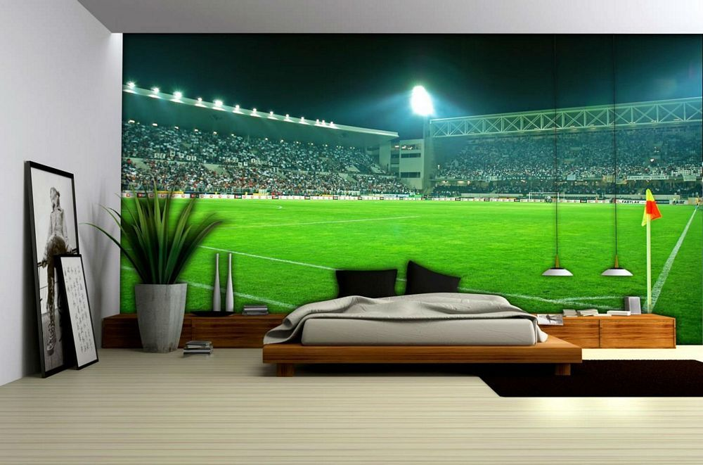 Pin by tgrady on Lobby Football bedroom Boys room wallpaper 1000x661