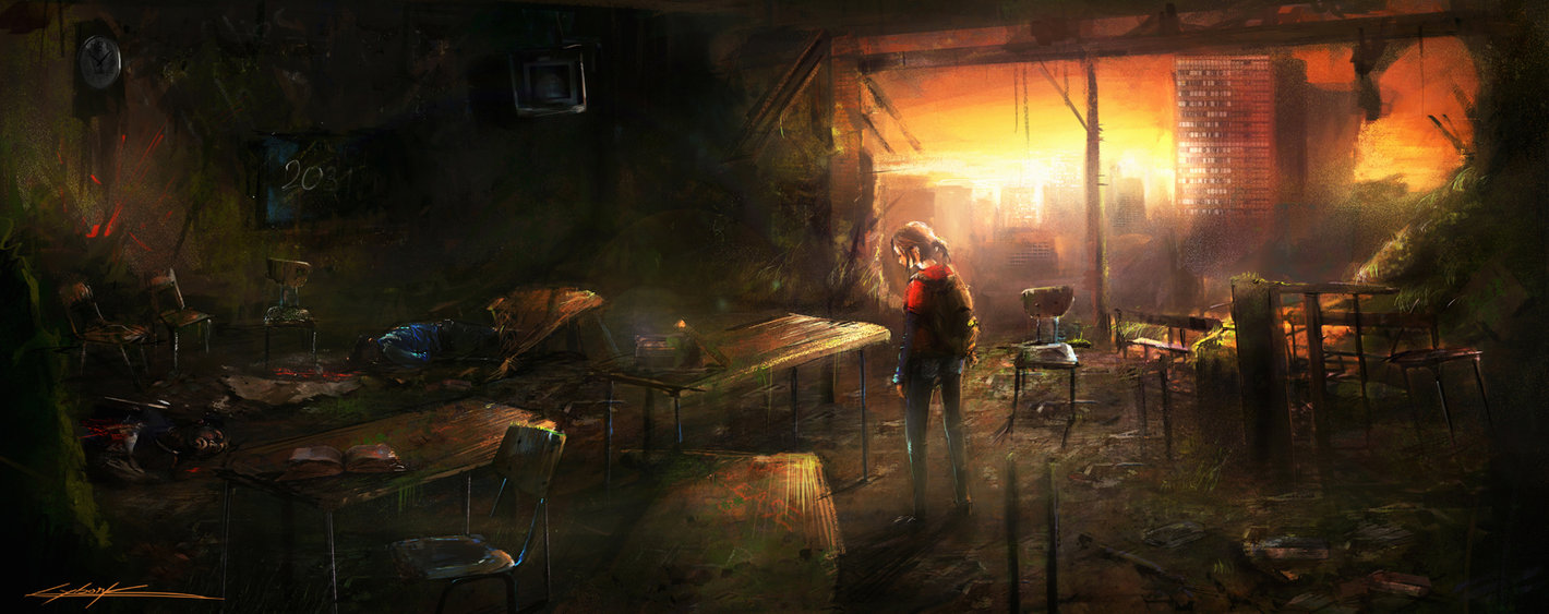 The last of us Ellie in the school by VitoSs 1420x563