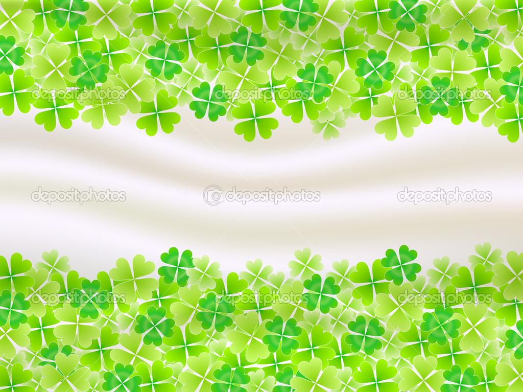 Four Leaf Clovers Background Four Leaf Clover Leaf Background Vector 1024x767