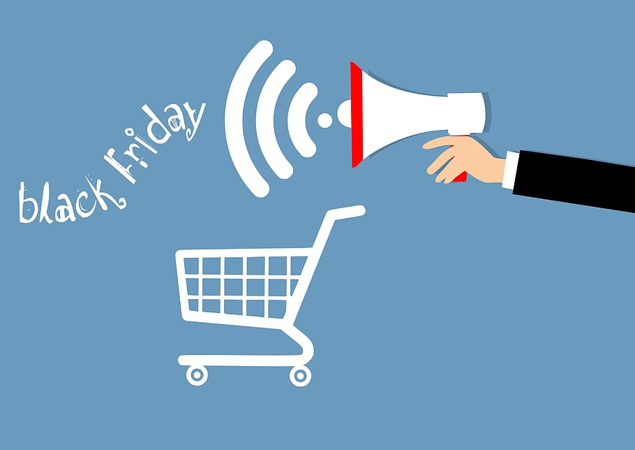 HD wallpaper Illustration of Black Friday announcement   bullhorn 910x644