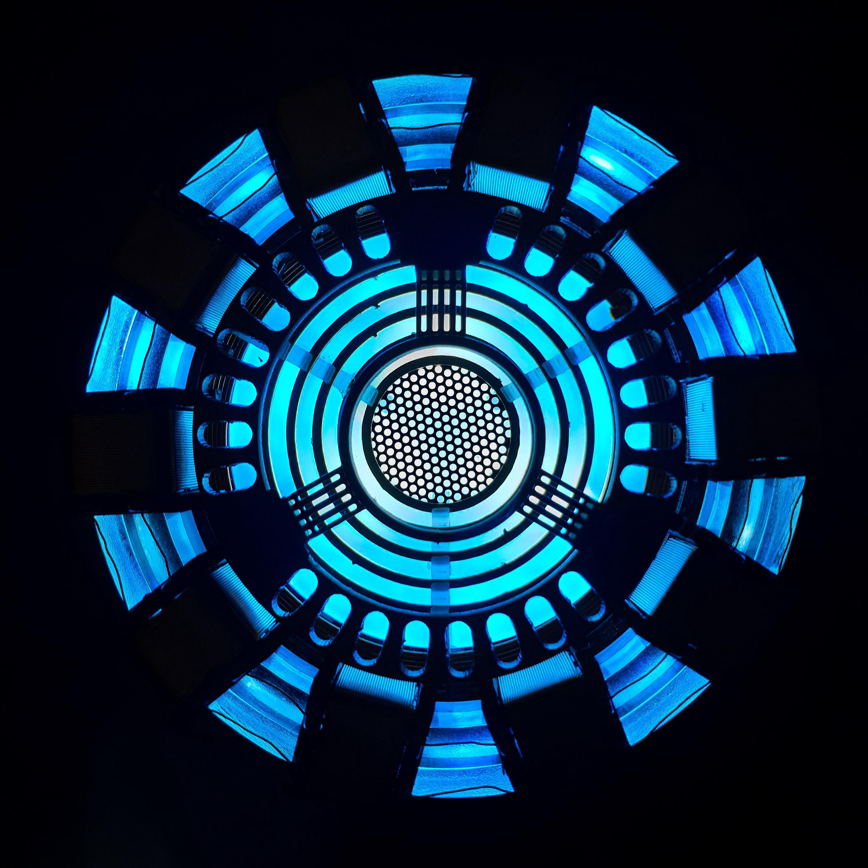 Download wallpaper 2780x2780 lamp glow blue dark ipad air ipad 2780x2780