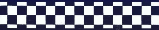 Wallpaper border has a black and white checkered pattern with black 525x101