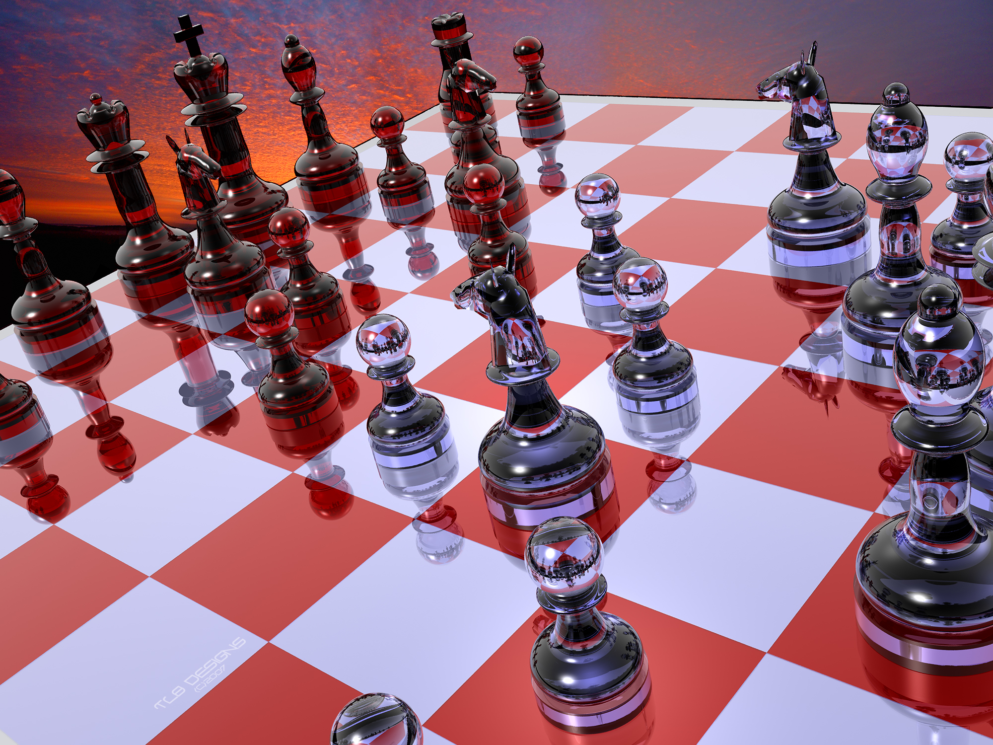 Free download 3D Chess Glass Wallpaper Desktop Wallpaper