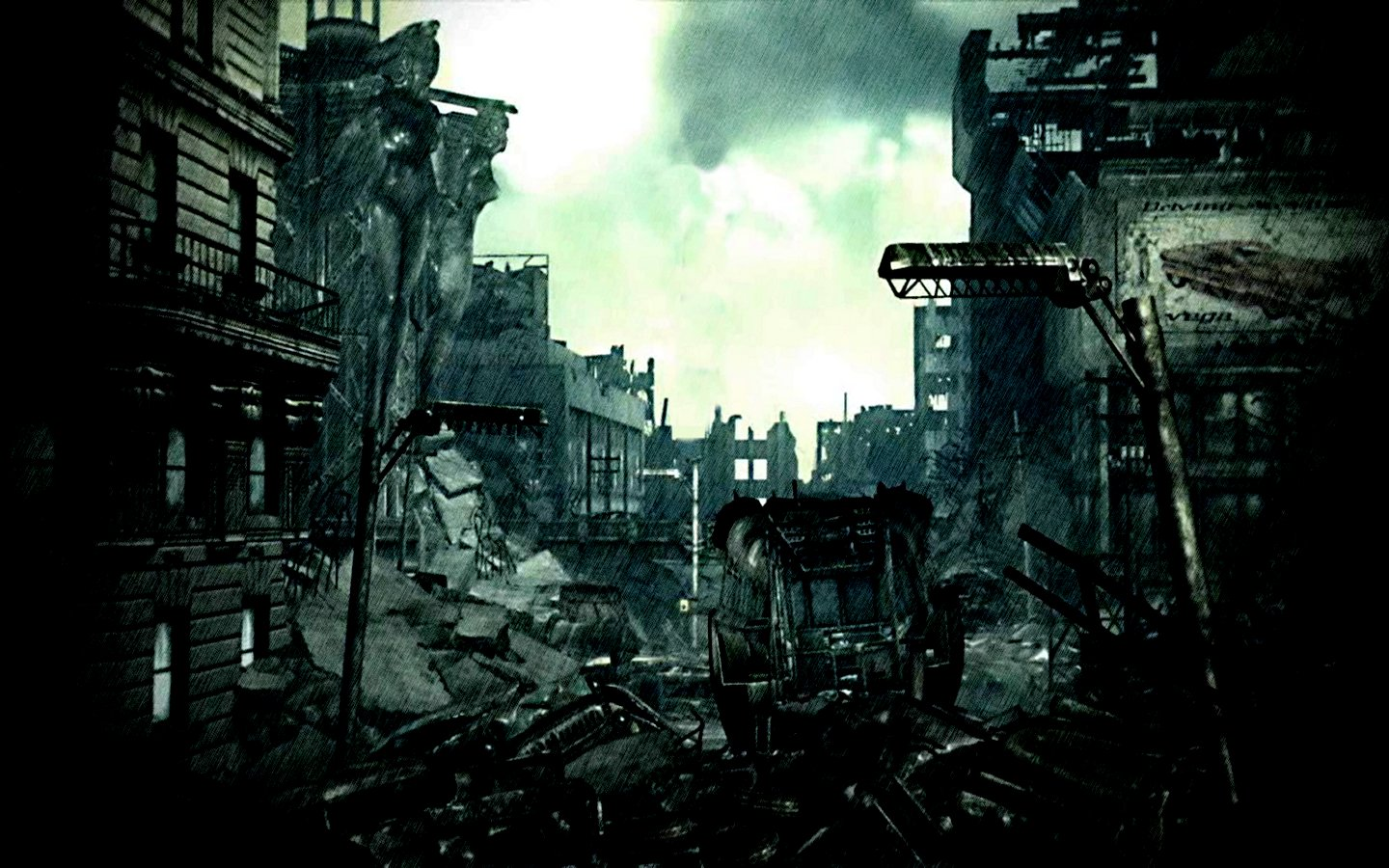 destroyed city wallpaper Collection 64 1440x900