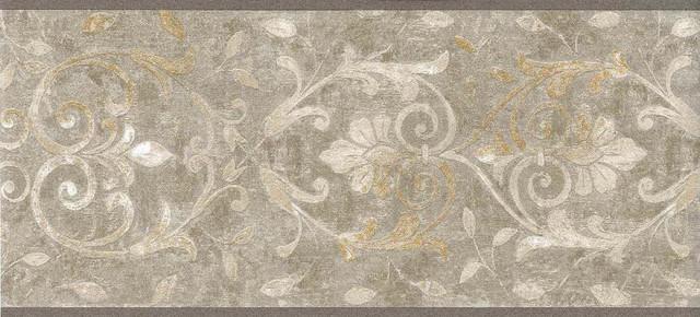 Light Gold Moulding Design Wallpaper Border   Traditional   Wallpaper 640x290