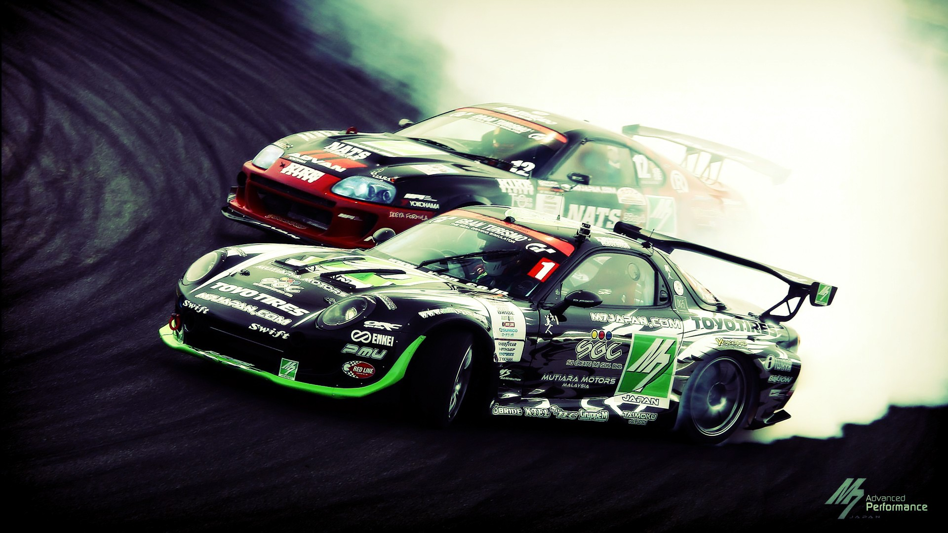 Supra Vs RX7 Drift Wallpapers Supra Vs RX7 Drift Myspace Backgrounds  1920x1080