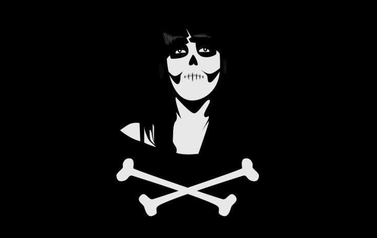De Los Muertos Day of the Dead Skull Crossbones wallpaper background 736x465