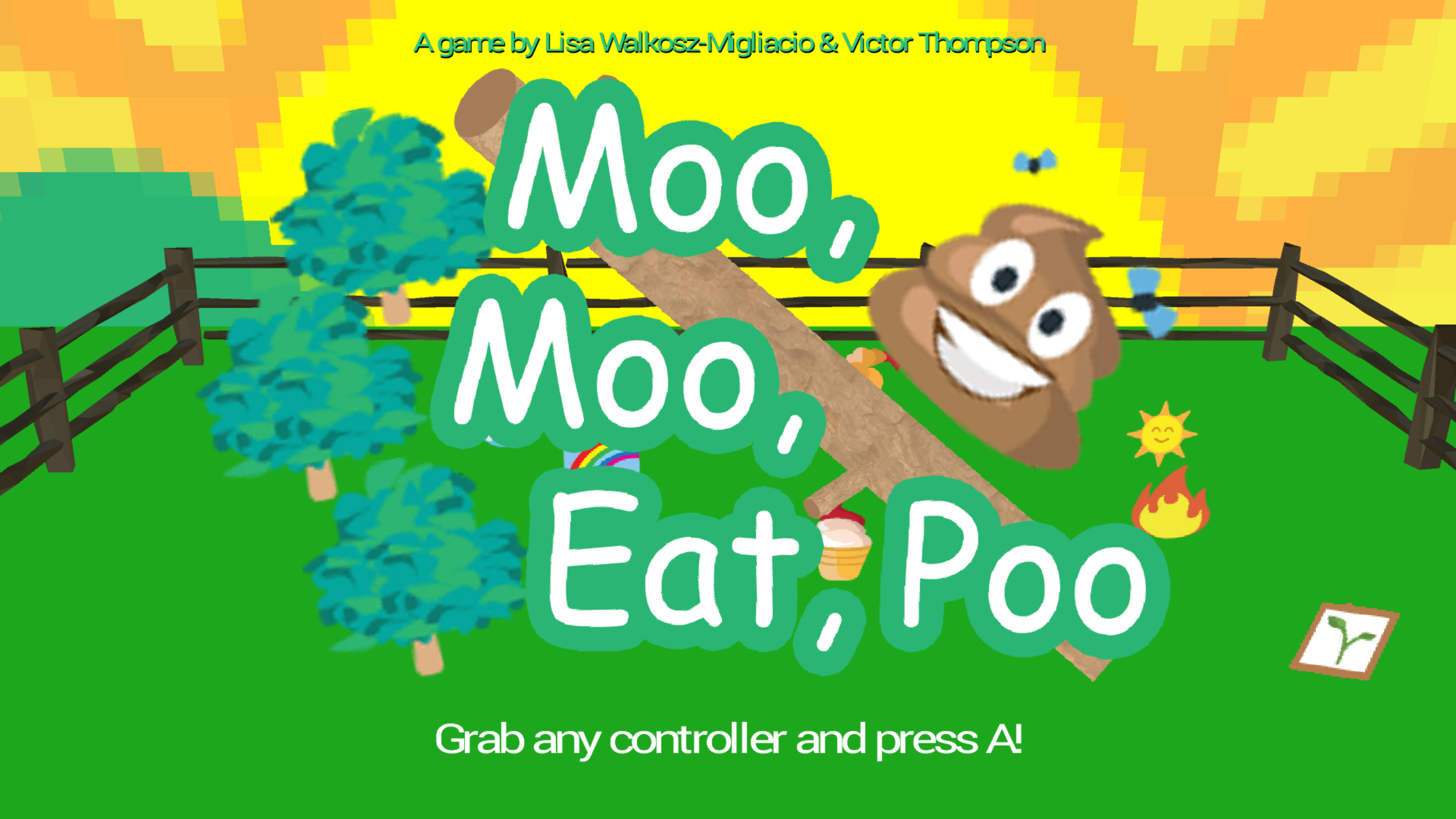 Moo Moo Eat Poo by Intropy Games for Train Jam 2016   itchio 2560x1440