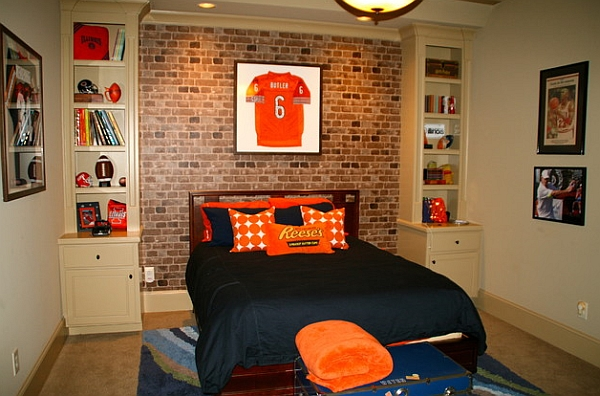Etonnant Framed Jerseys From Sports Themed Teen Bedrooms To Sophisticated Guy 600x396