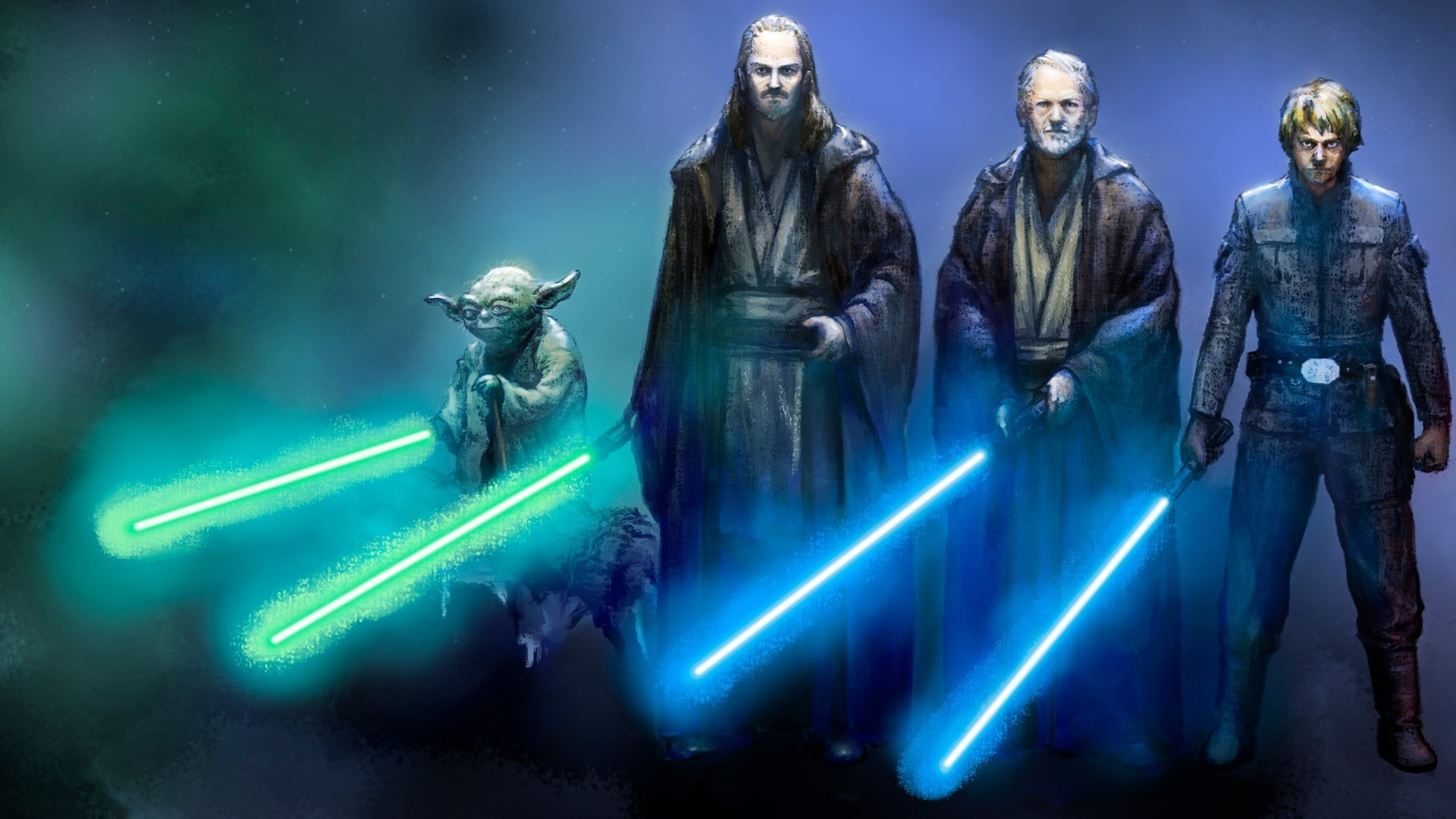 Epic Battle Wallpaper 1920 x 1080 Star Wars jedi HD 1920x1080