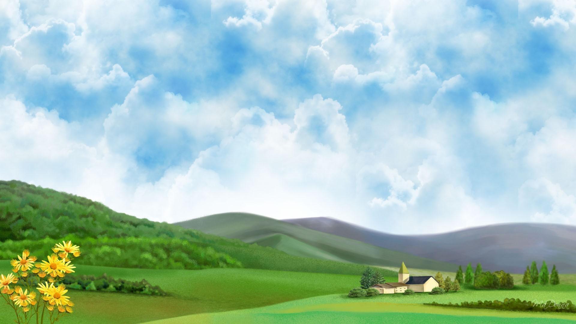 Farm Country HD desktop wallpaper Widescreen High 1920x1080