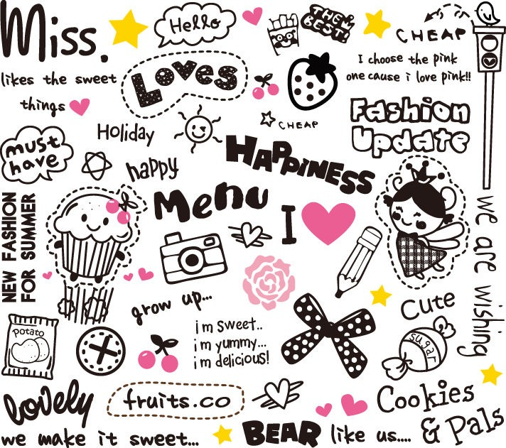Cute Elements Design Vector Set Vector Graphics All Web 712x631