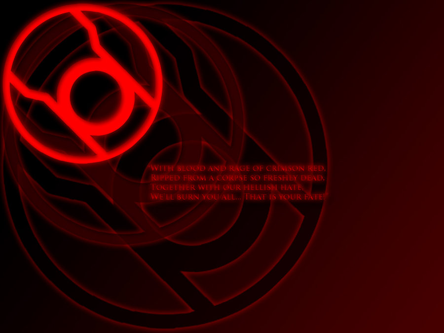 Red Lantern Corps Wallpaper Red oath wallpaper by 900x675