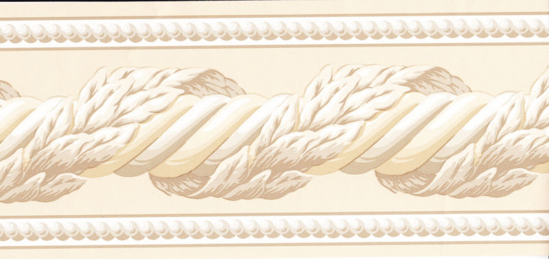 White Brown Tones Twist Molding Wallpaper Border Wall eBay 800x378
