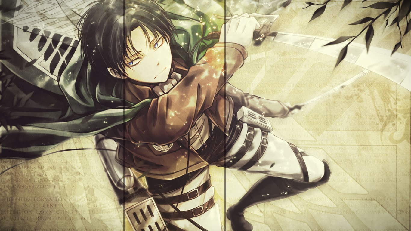 captain levi rivaille ttack on titan shingeki no kyojin anime hd 1366x768
