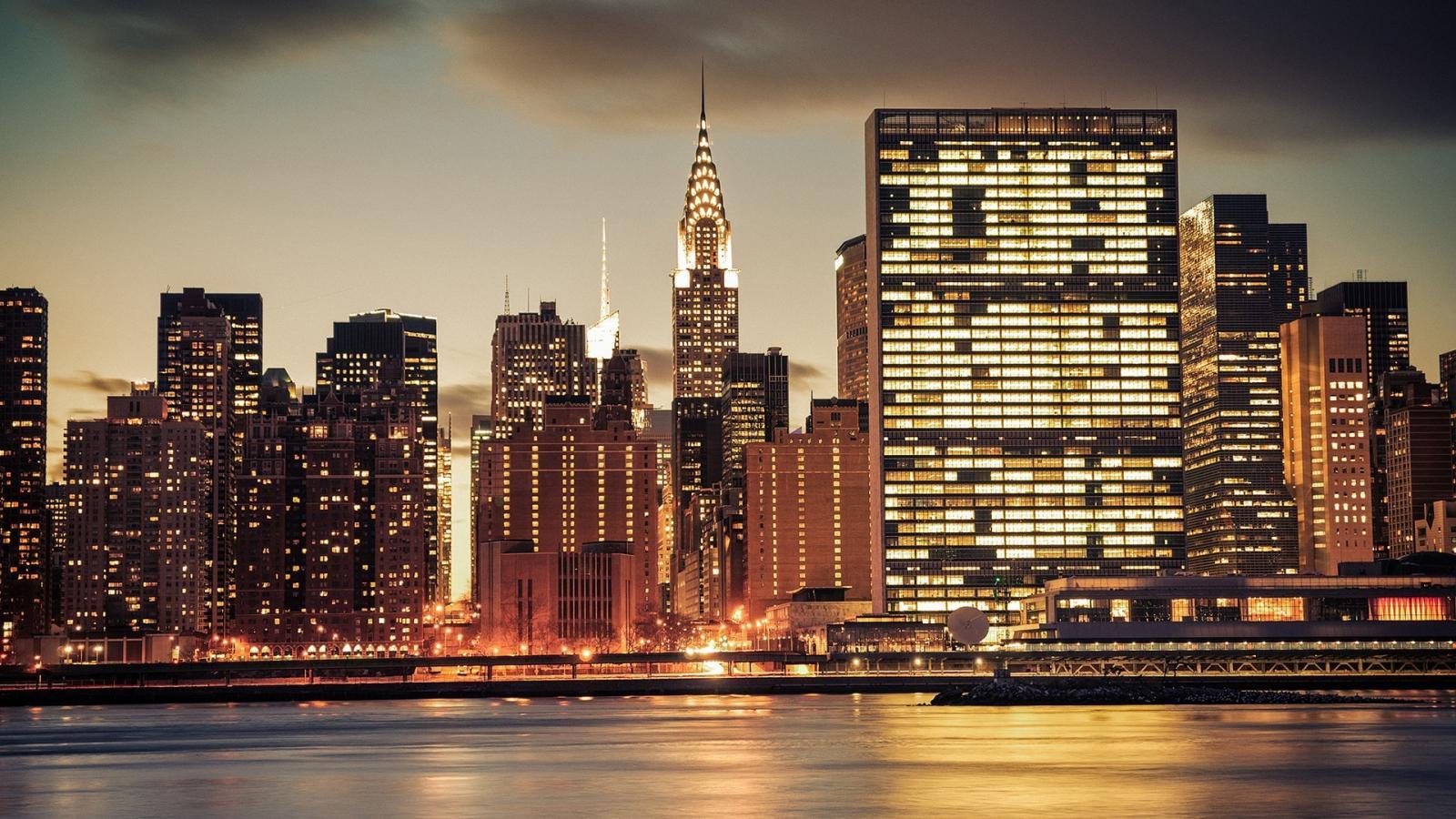 New York City Lights Wallpaper Hd 1600x900