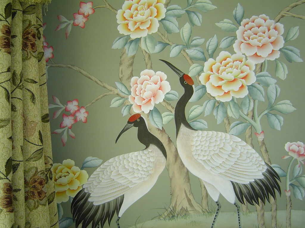 chinese wallpaper chinoiserie wallpaper silk wallpaper hand 1024x768