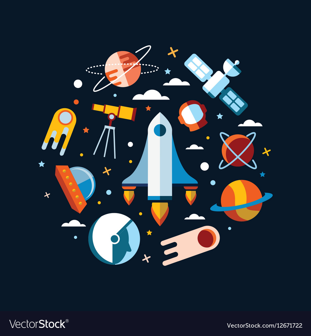 Vintage space and astronaut background Royalty Vector 1000x1080