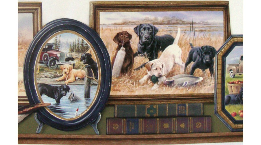 Home Hunting Dogs Wallpaper Border 900x500