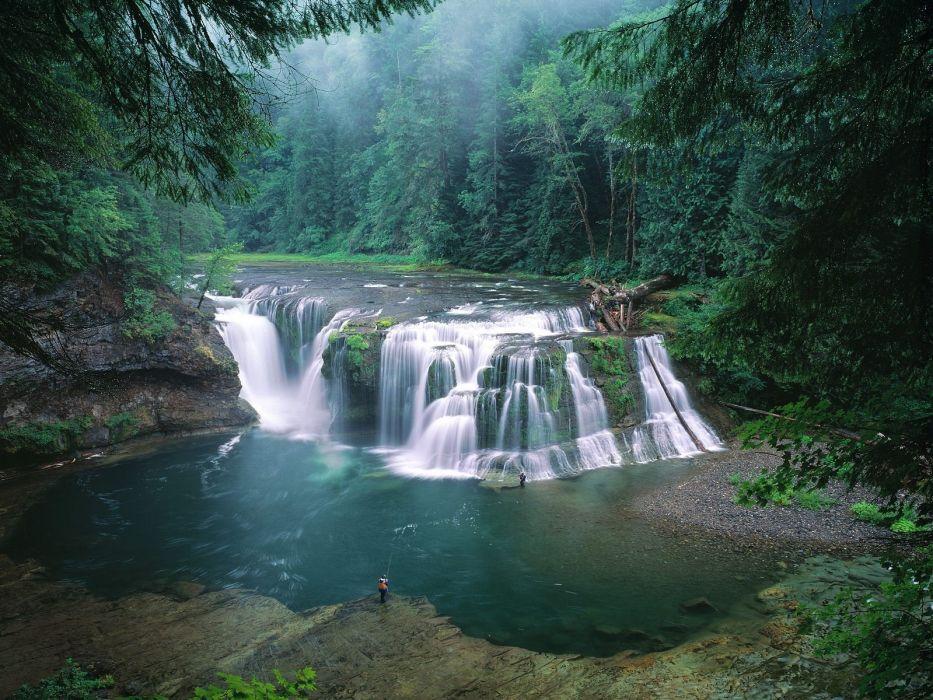Fishing waterfalls rivers wallpaper 1600x1200 240442 WallpaperUP 933x700