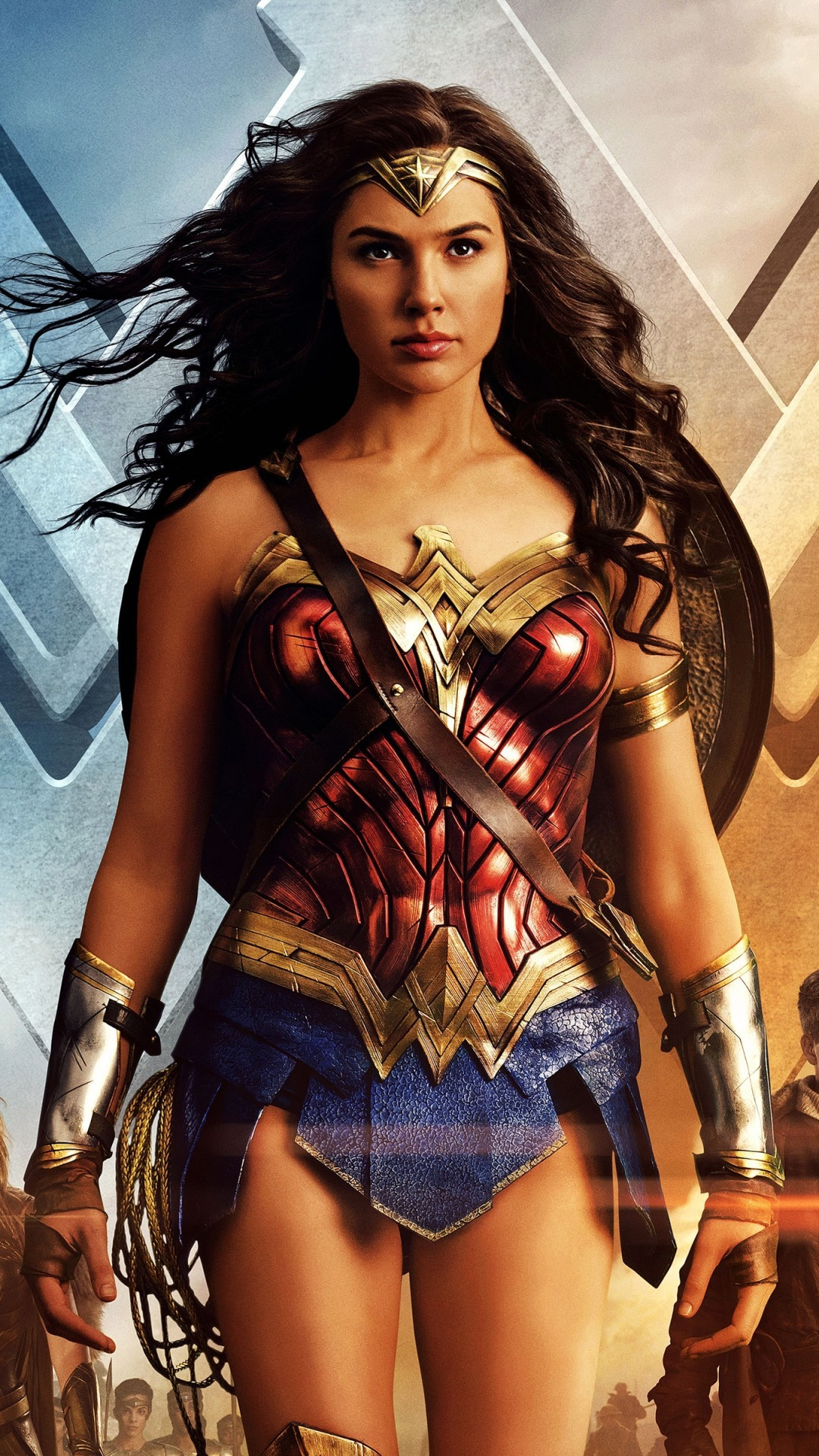 Wonder Woman Wallpaper Gal Gadot 2019 3D iPhone Wallpaper 1080x1920
