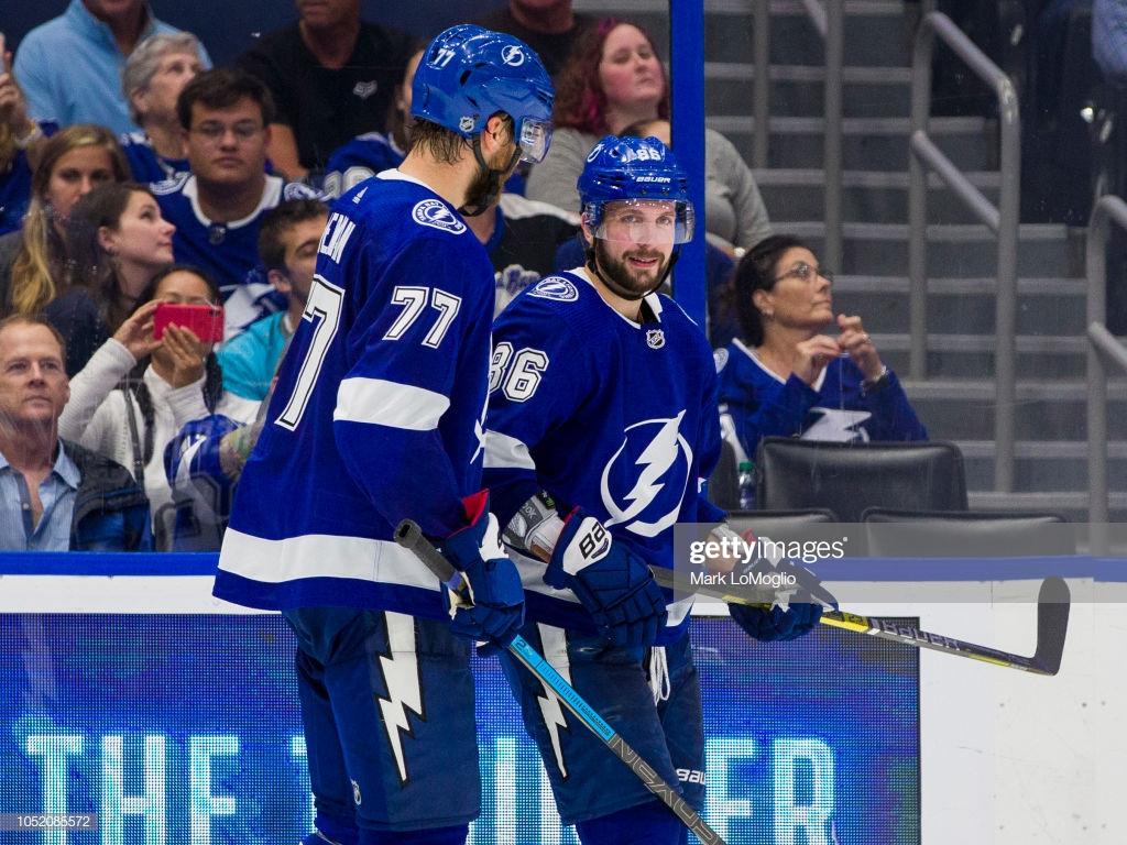 Nikita Kucherov and Victor Hedman of the Tampa Bay Lightning 1024x768