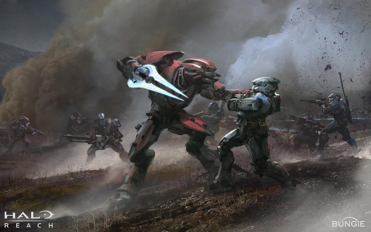 Halo Reach Spartan vs Elite Wallpaper 1280x800 50p 1280x800