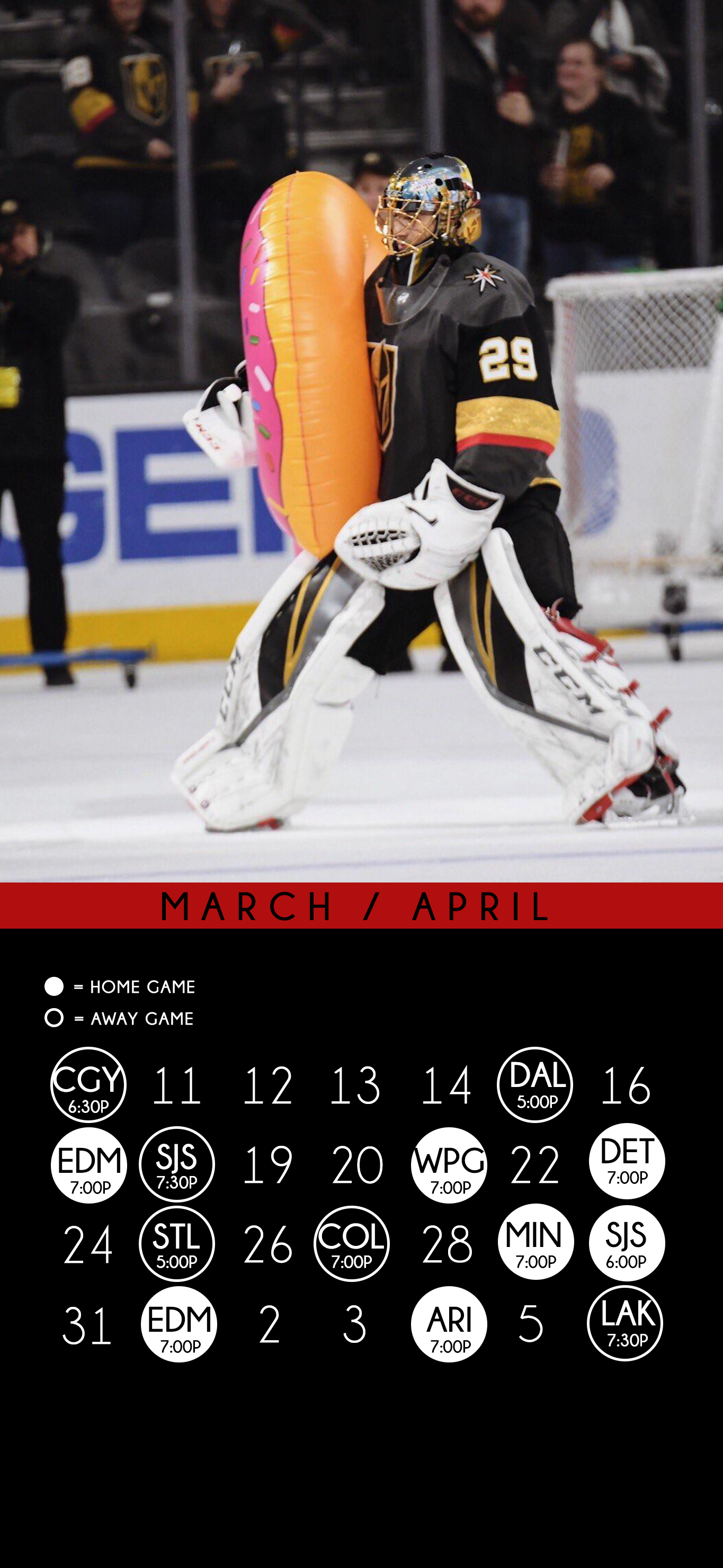MarchApril Schedule Wallpaper Fleury and Stone options 1365x2960