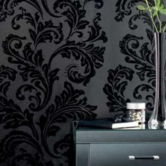 Black Damask Wallpaper from Next Wallpapers Feature wallpaper 550x550