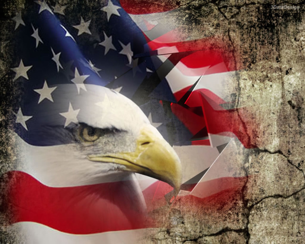 American Flag Background with Eagle 4th of July 1024x819