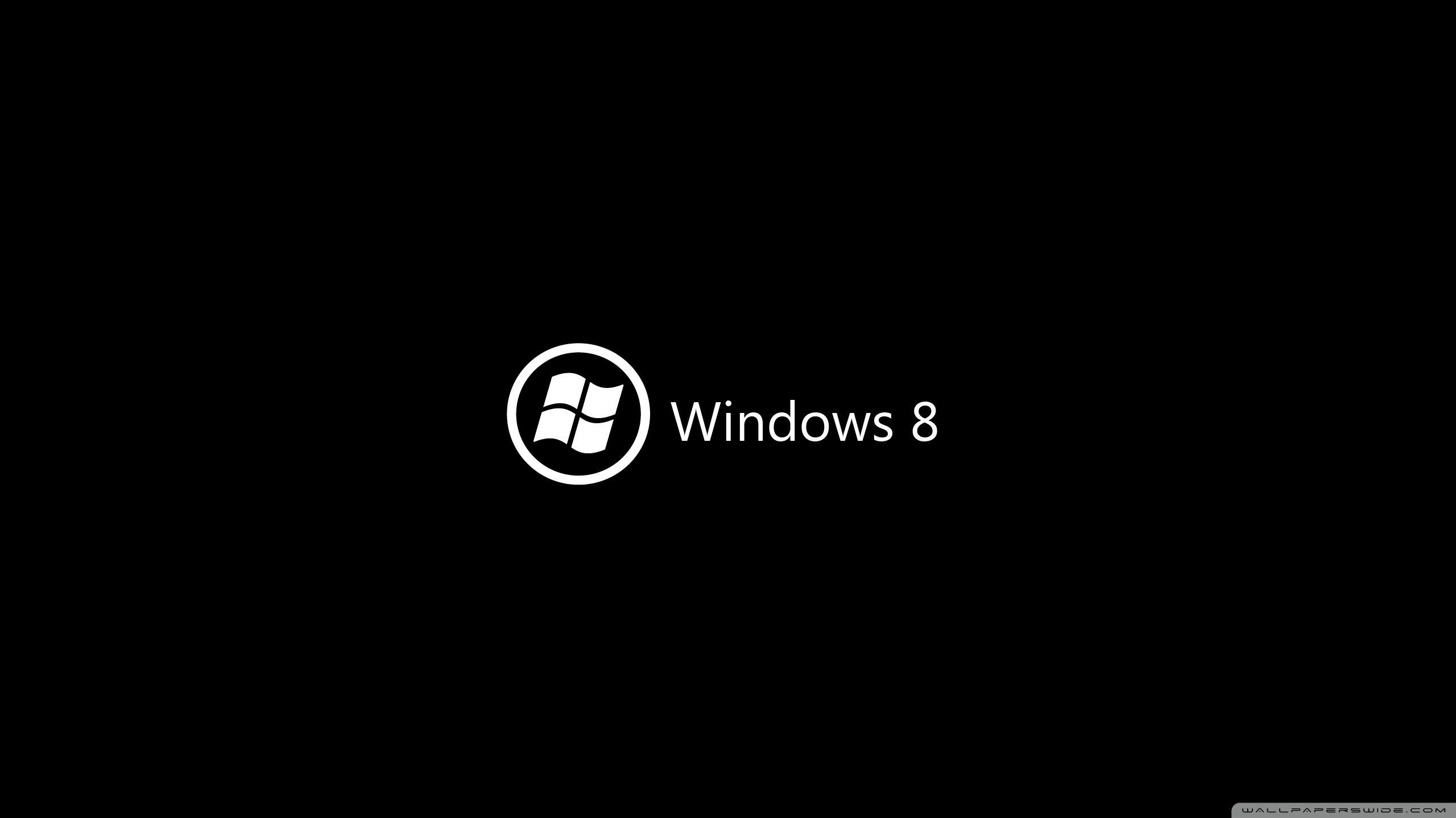 Windows 8 On Black 4K HD Desktop Wallpaper for 4K Ultra HD TV 2560x1440