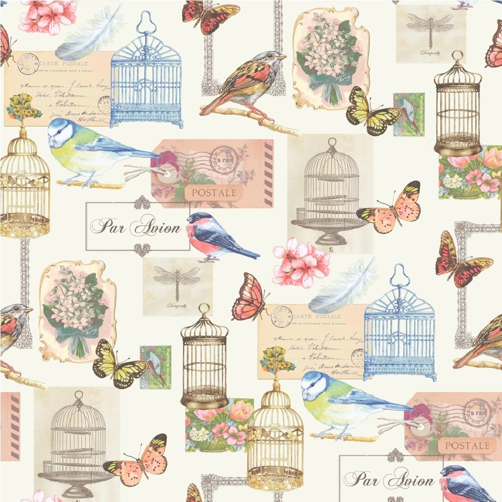 Wallpaper Muriva Muriva Birdcage Motif Wallpaper J51112 1000x1000