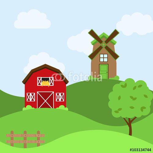Vector Farm Themed Background Stok Grseller ve Telifsiz vektr 500x500