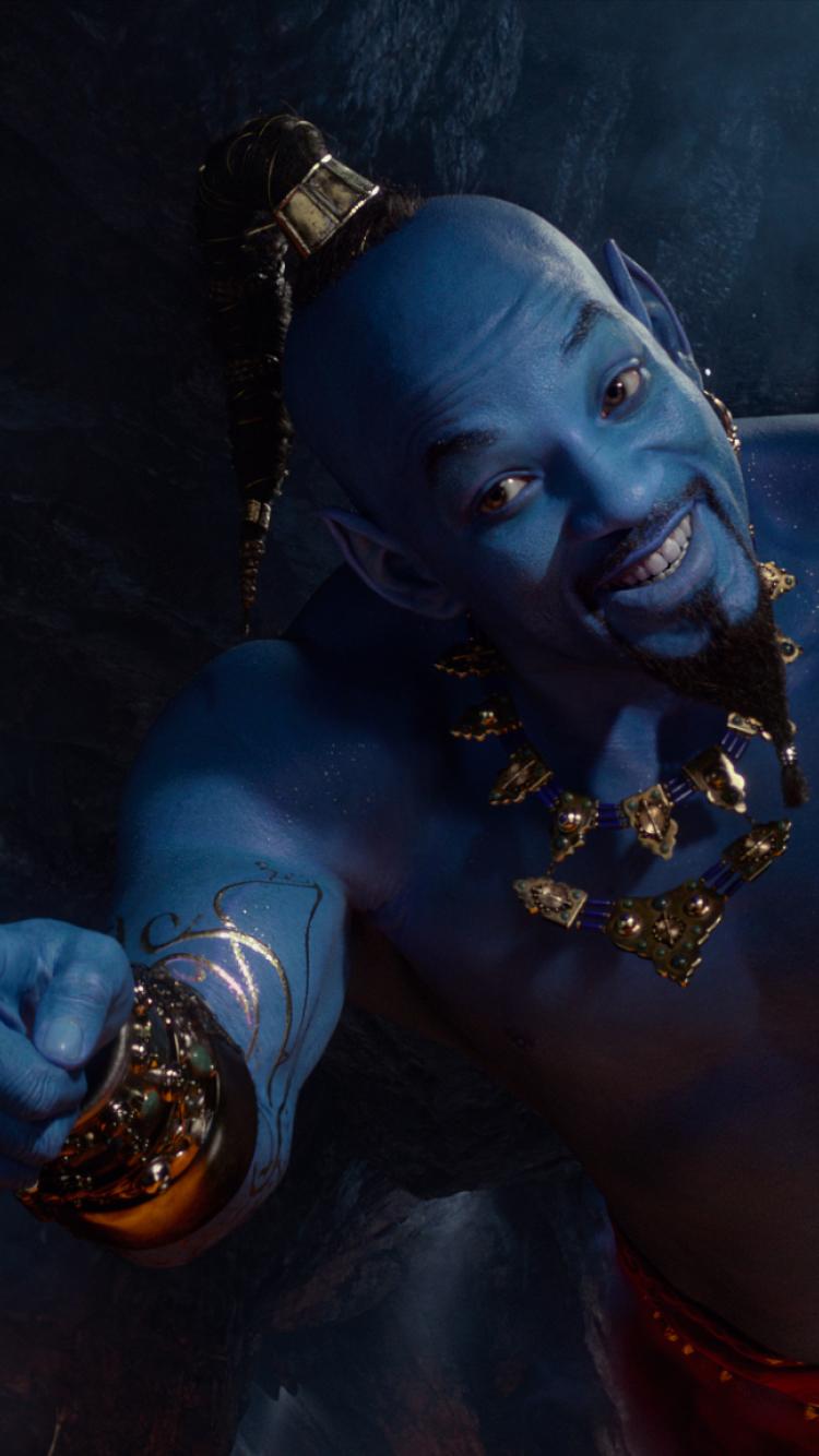 750x1334 Will Smith as Genie In Aladdin Movie 2019 iPhone 6 750x1334
