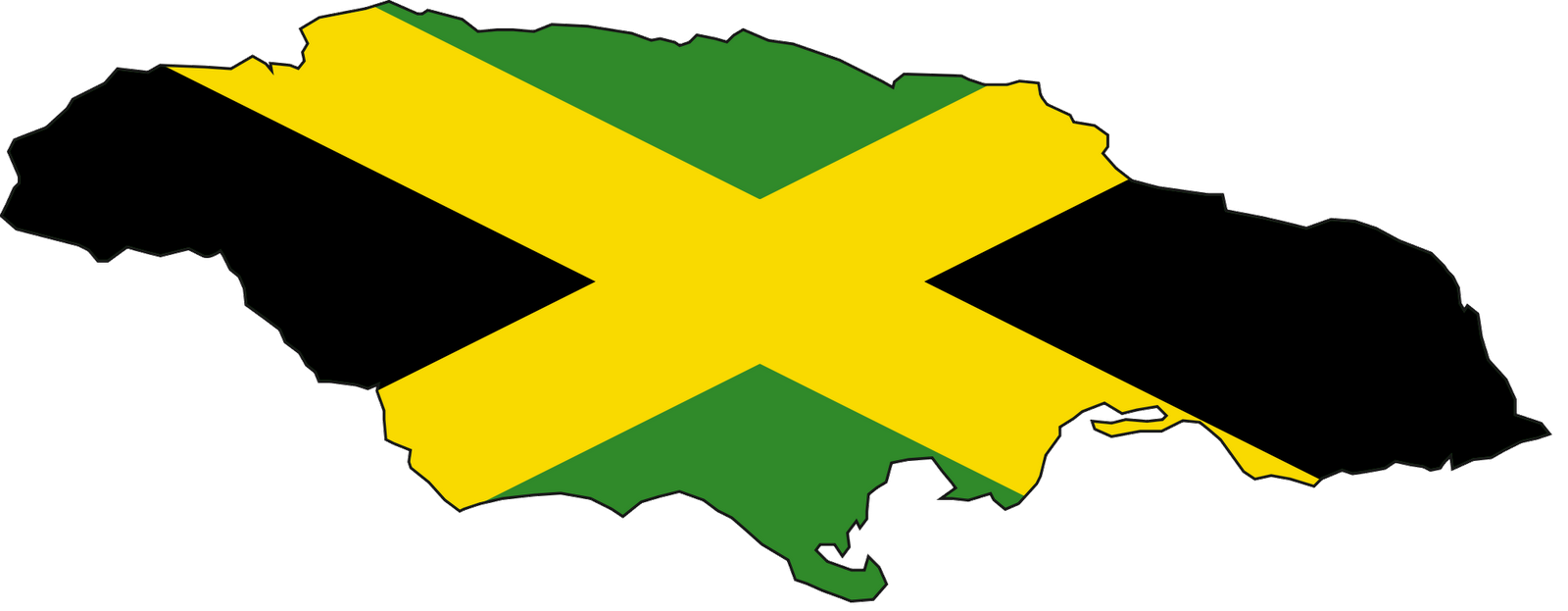 map of jamaican country with flag of jamaica 1600x623