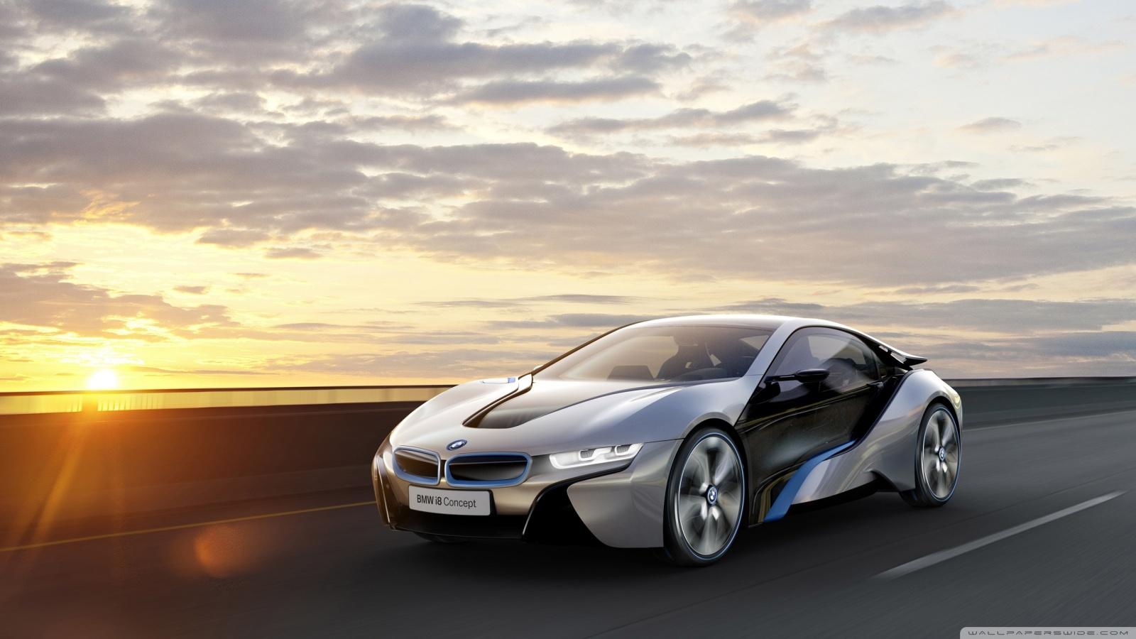 BMW i8 Car Concept 4K HD Desktop Wallpaper for 4K Ultra HD TV 1600x900
