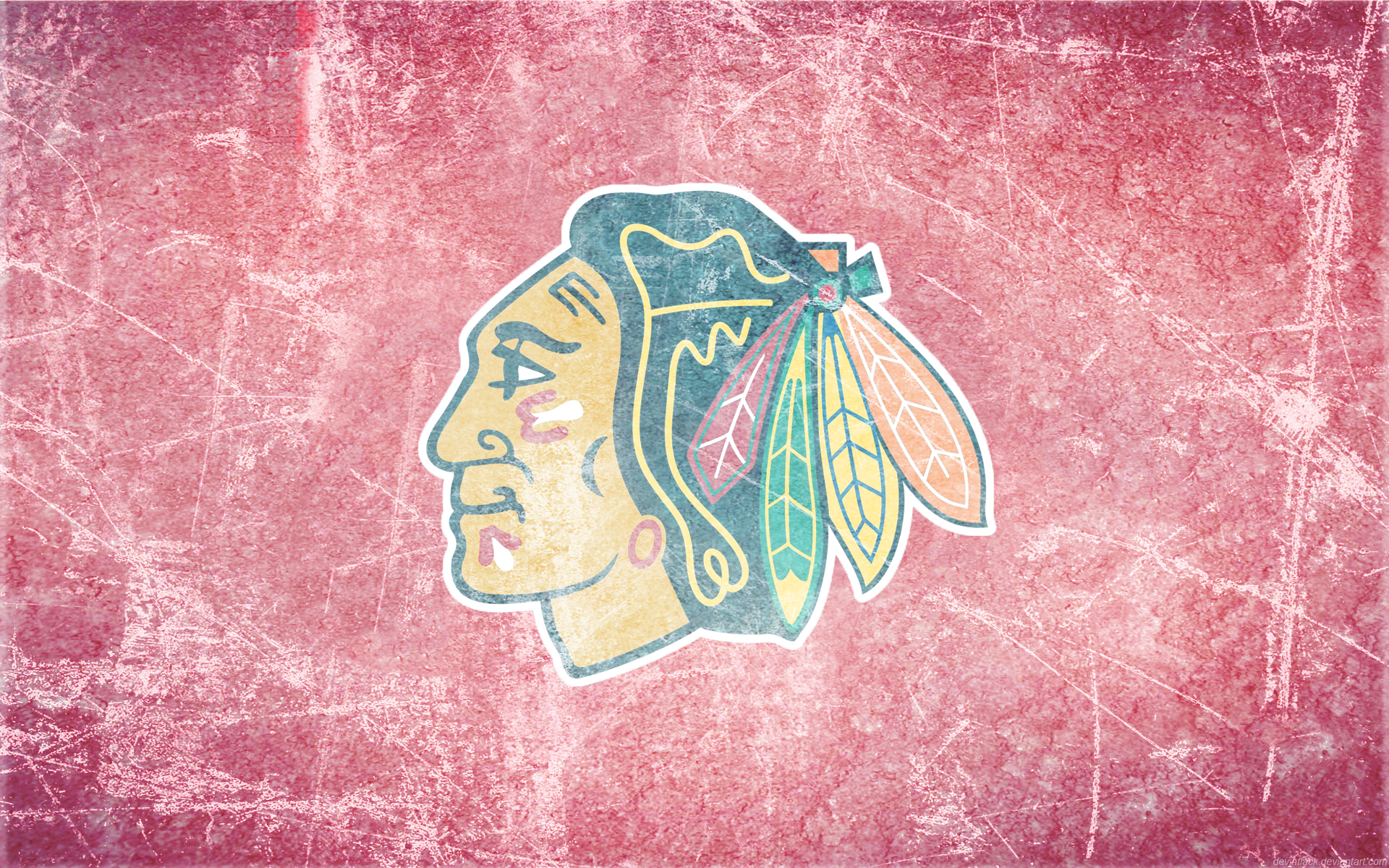 blackhawks wallpaper ice art devinflack 1920x1200