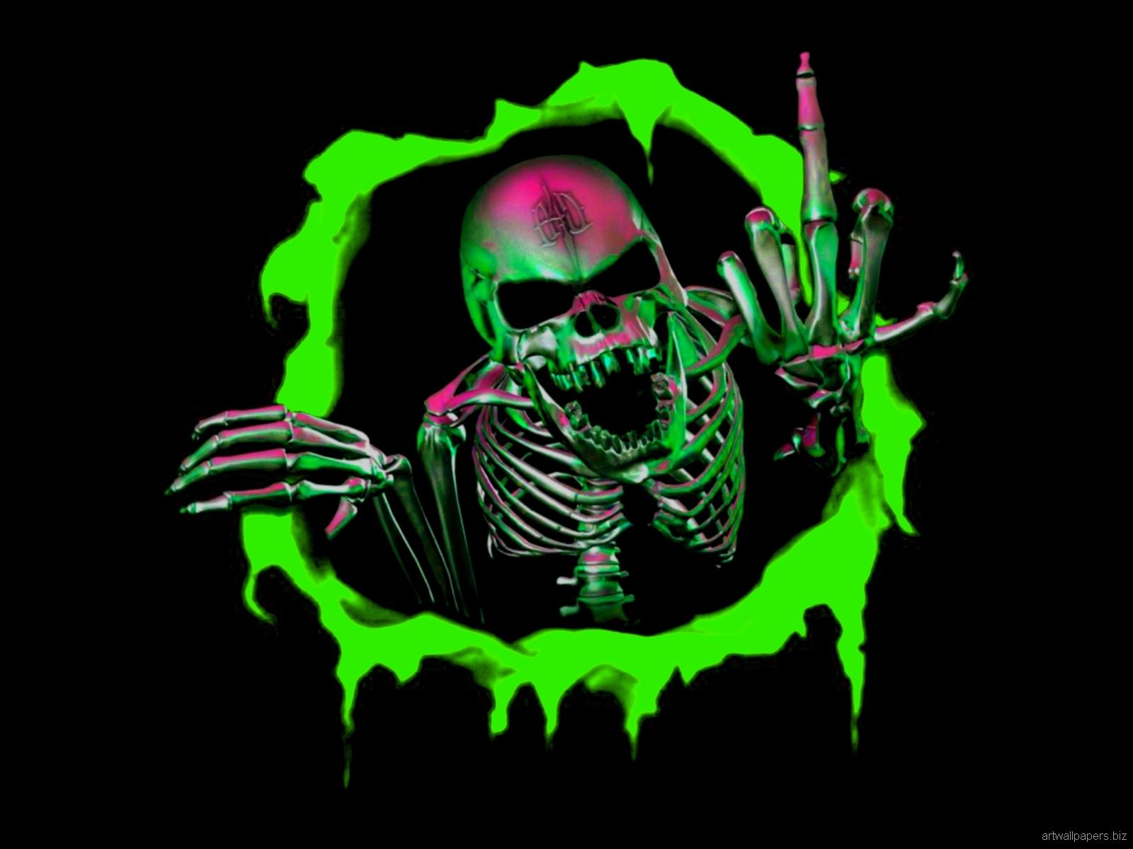 Green Skull Wallpaper 1600x1200