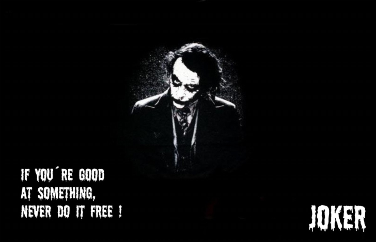 Joker Quotes HD Wallpaper for Desktop and iPad 1200x771