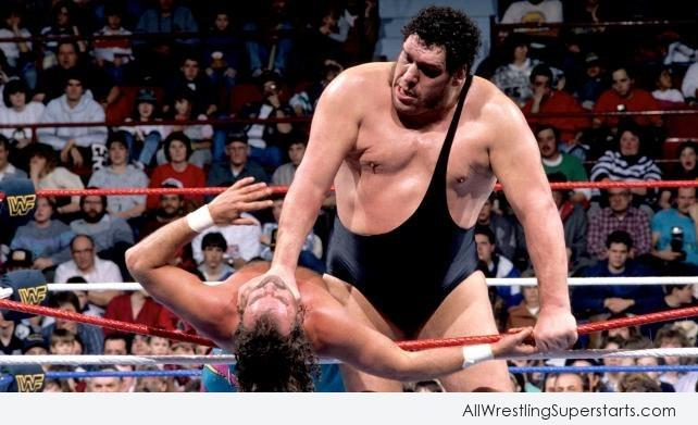 Andre The Giant Through Out The Ring To Opponent   WWE 642x391