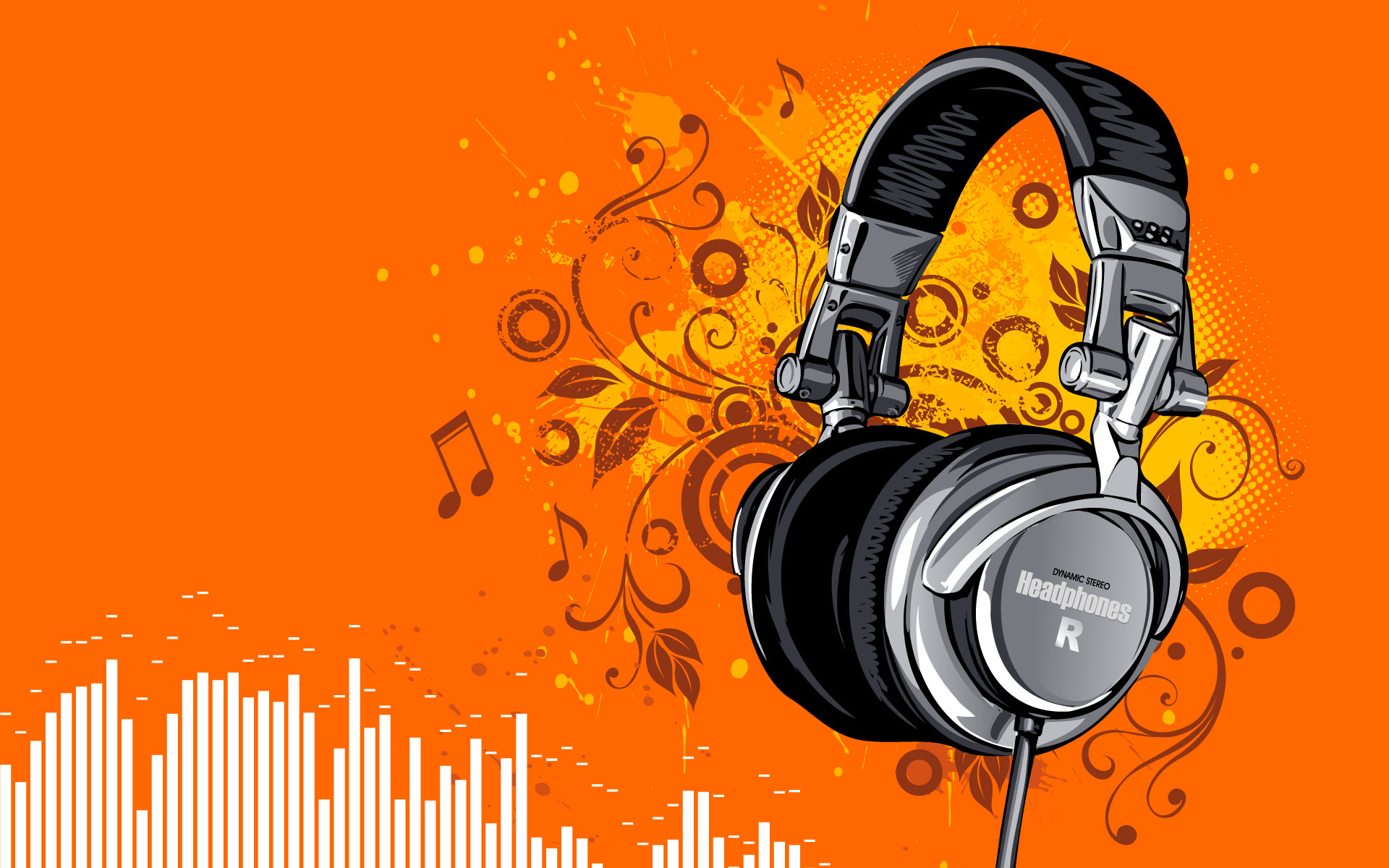 Download Dynamic Stereo Headphone Wallpaper Wallpapers 1920x1200