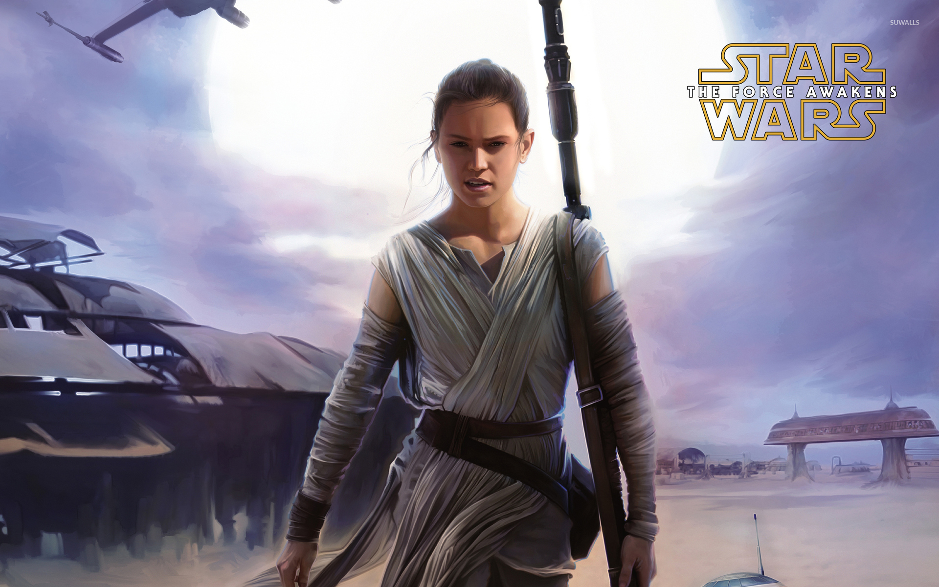 Rey in Star Wars The Force Awakens wallpaper   Movie wallpapers 1920x1200