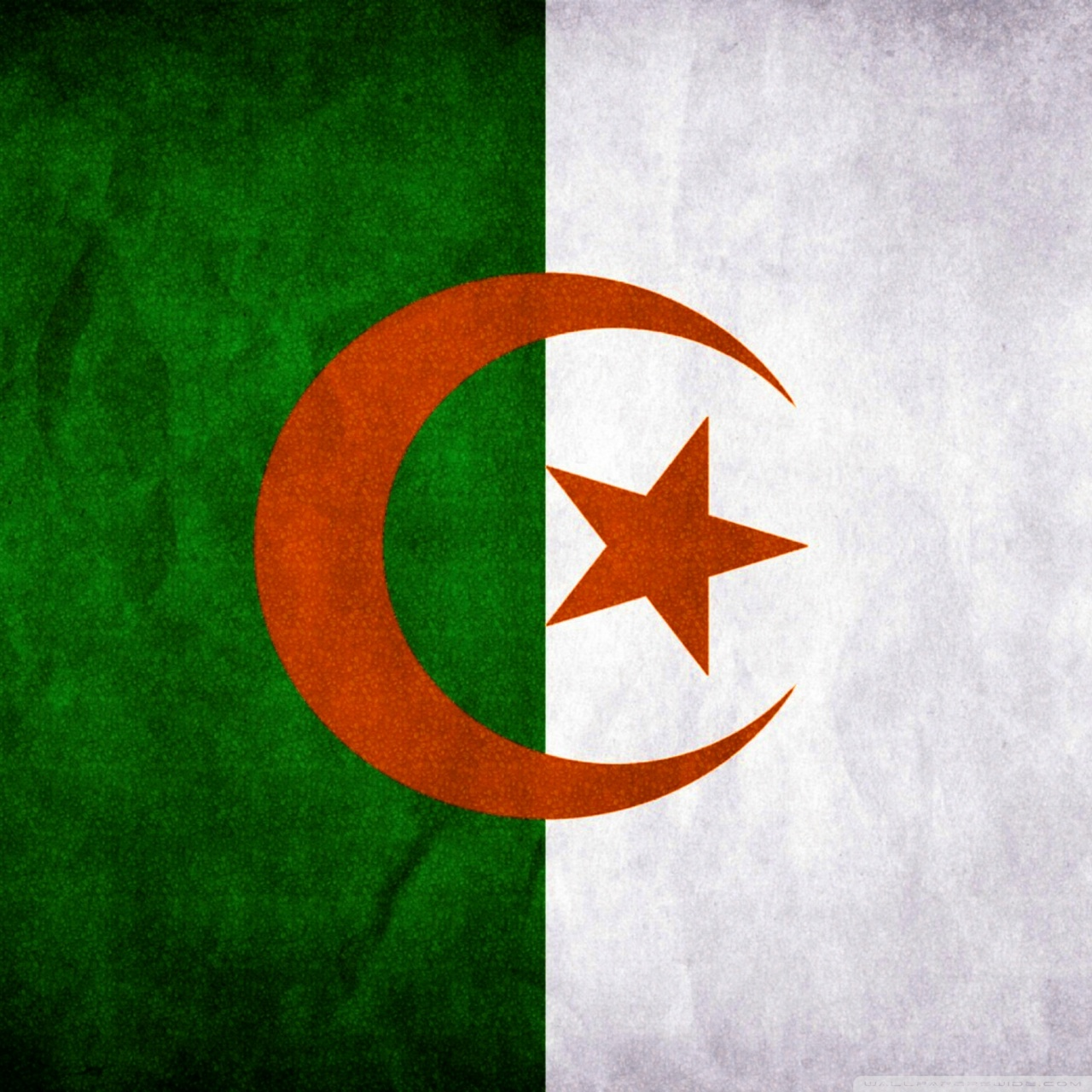 Algeria Flag 4K HD Desktop Wallpaper for 4K Ultra HD TV Dual 1280x1280