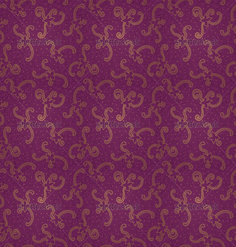 Ornate floral seamless texture Violet brocade pattern Persian style 810x846