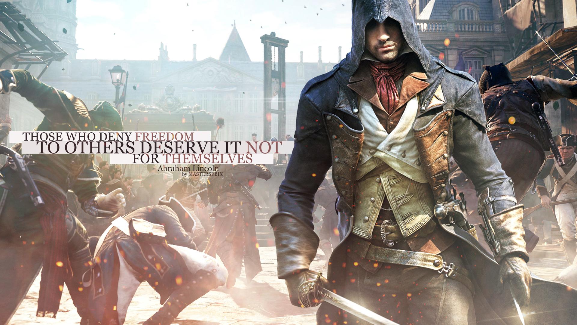 Assassins Creed Unity Arno Dorian action 1920x1080