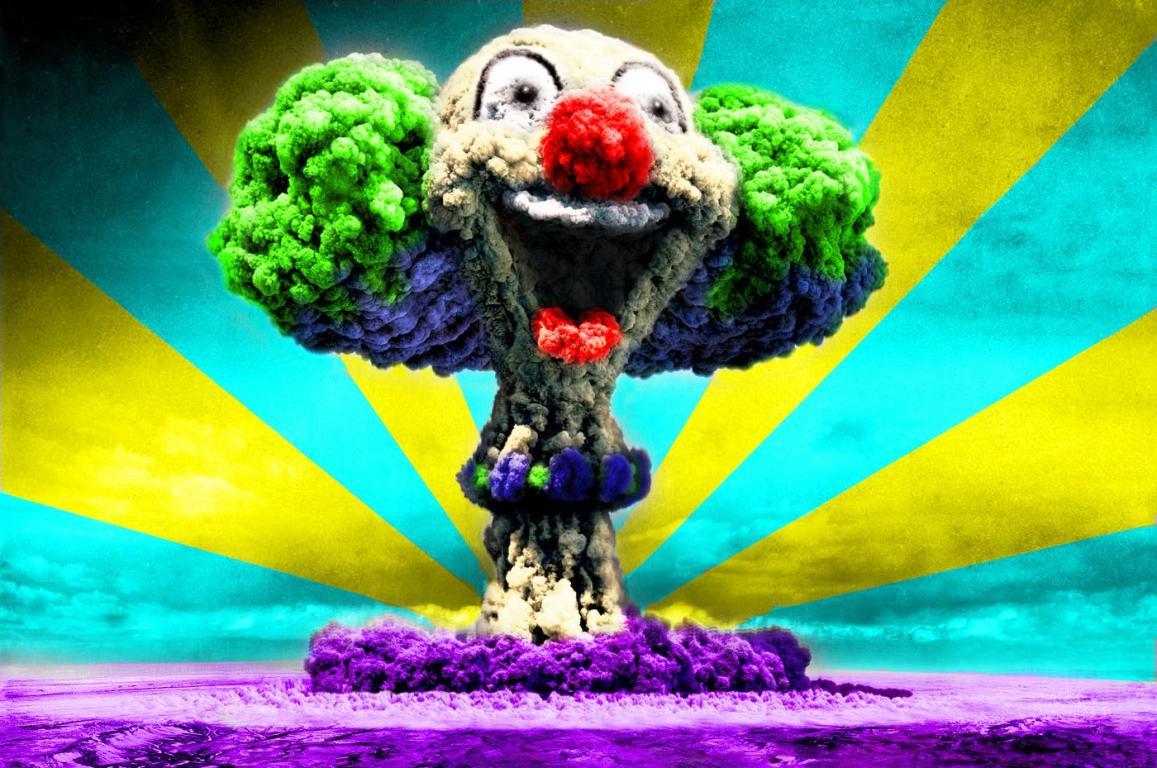 Atomic Bomb Mushroom Clown HD Wallpapers Epic Desktop Backgrounds 1157x768