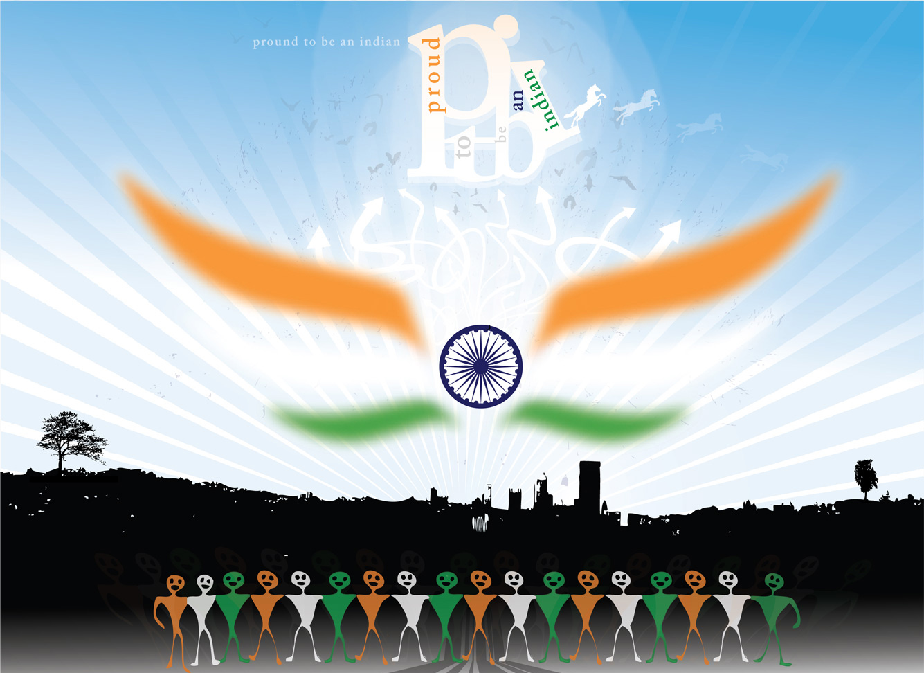 Incredible India Wallpapers Proud to be Indian Vande Mataram 1335x972