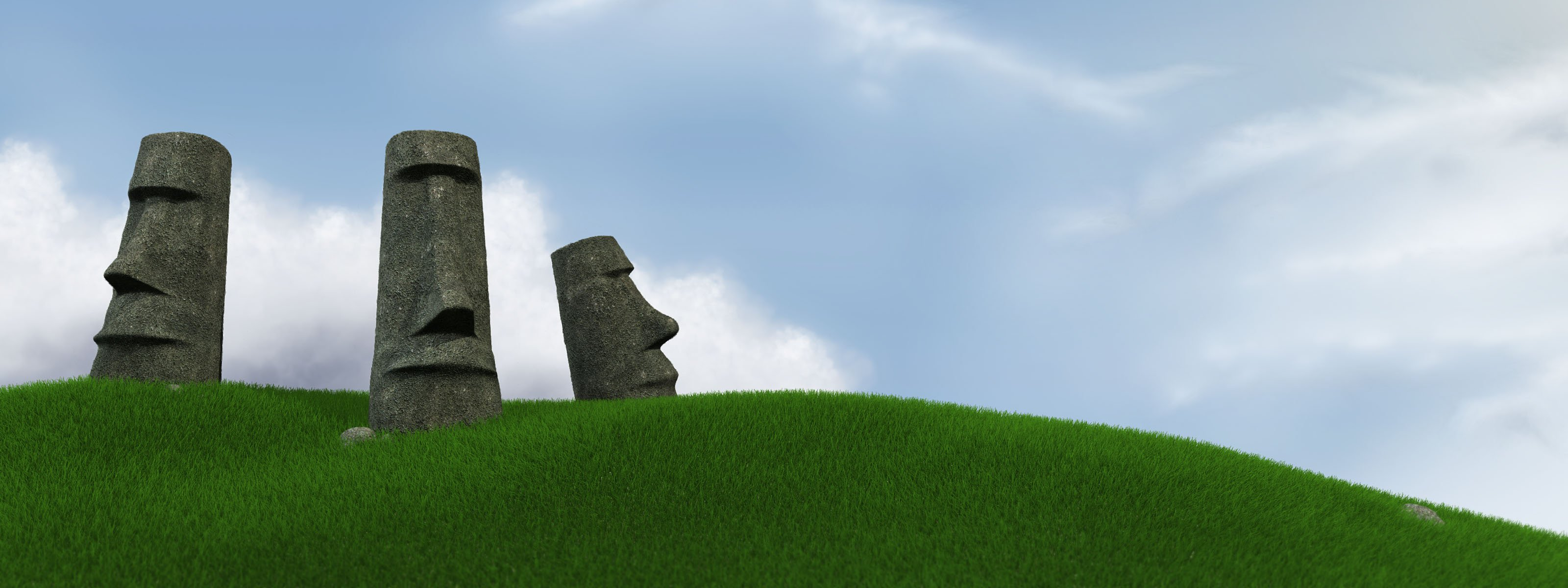 Easter Island Wallpaper   Fond dcran 3200x1200