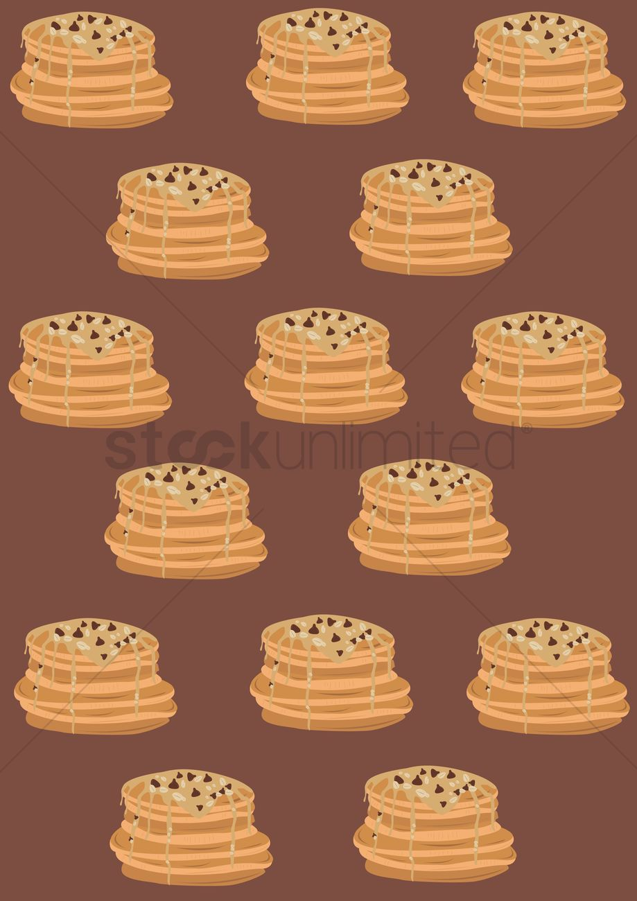 Pattern background of pancakes Vector Image   1393196 StockUnlimited 919x1300